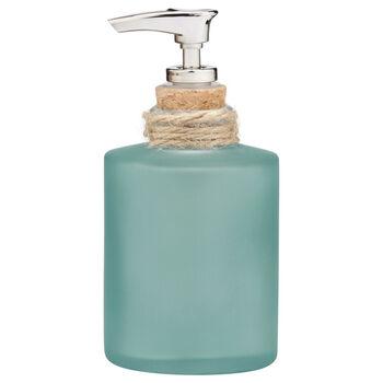 Distributeur de savon en verre givré avec corde