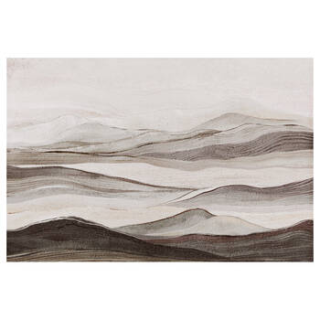 Semi-Abstract Oil-Painted Mountains Canvas
