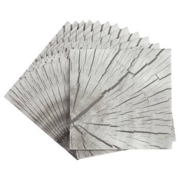 Set of 20 Wood Effect Table Napkins