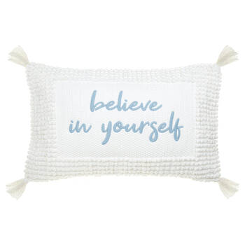 "Coussin lombaire décoratif Jenessa anglais Believe in Yourself 13"" x 20"""
