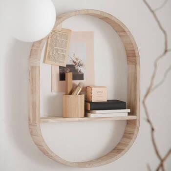 Natural Wood Wall Shelf