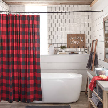 Buffalo Plaid Shower Curtain
