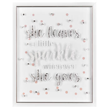 Sparkle Typography Framed Art
