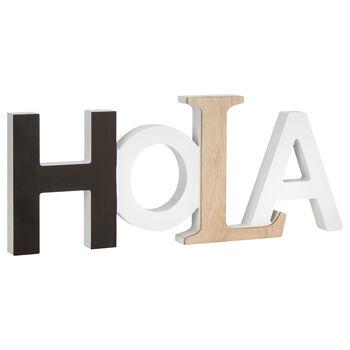 Mot décoratif Hola