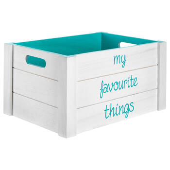 Large Favourite Things Wooden Crate