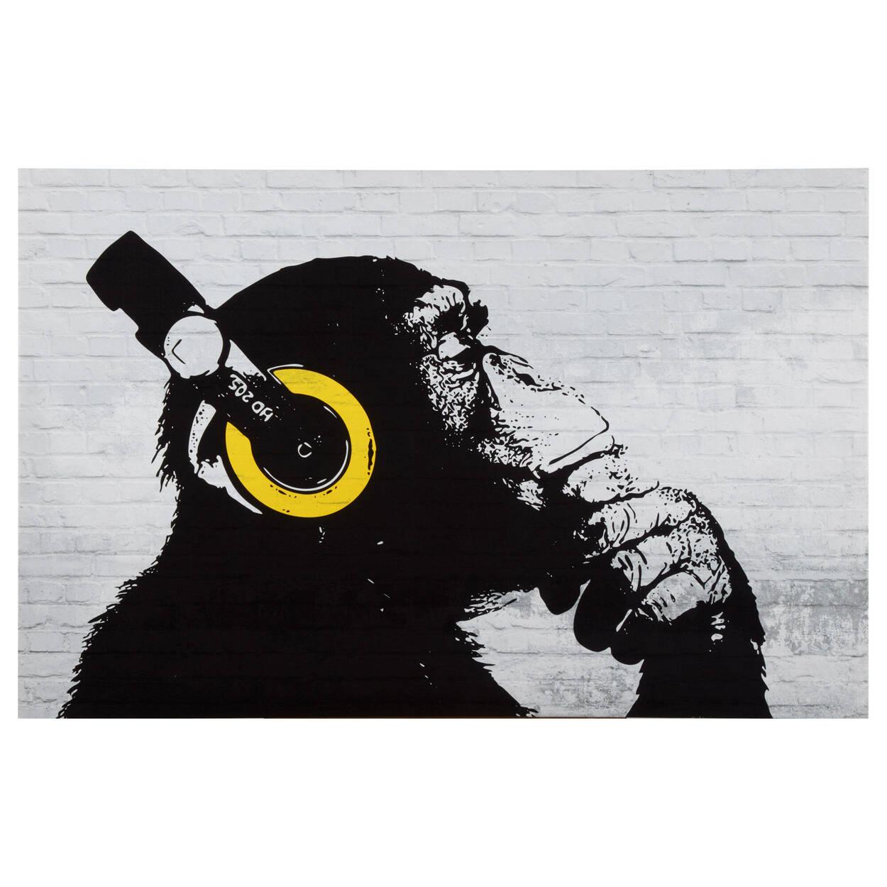 Tableau imprimé singe penseur
