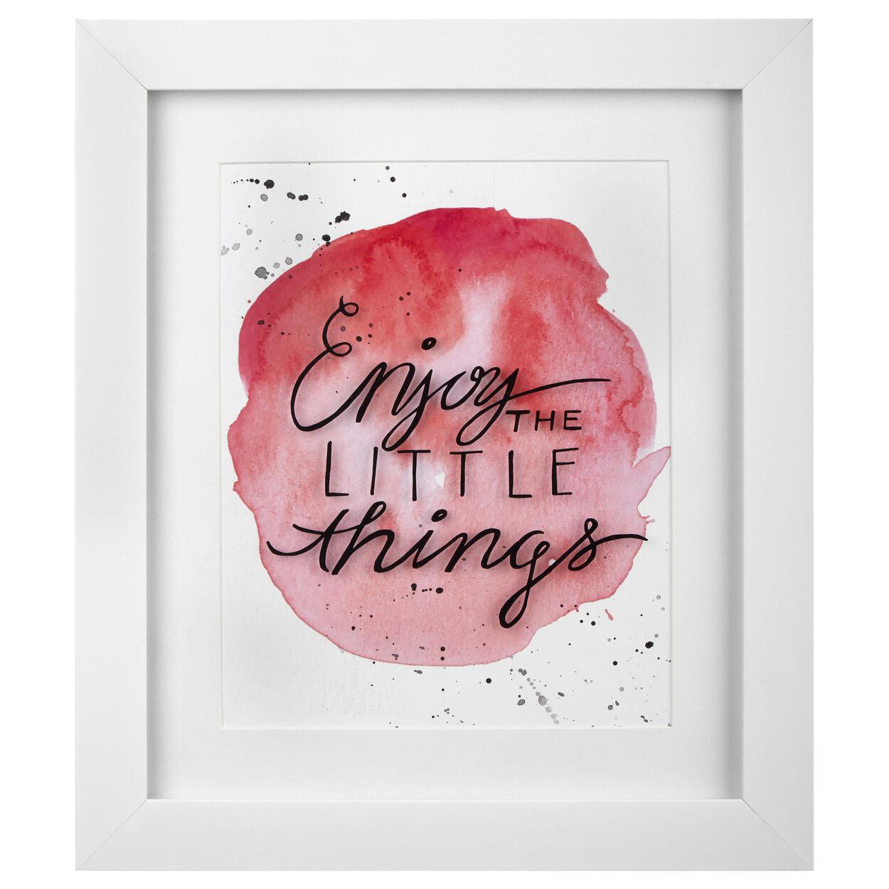 Enjoy Typography Framed Art