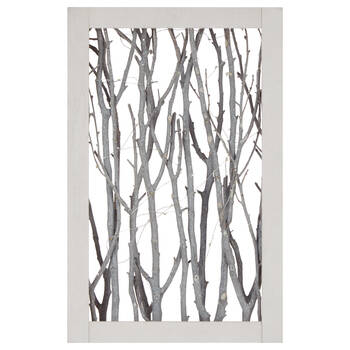 Framed Birch Branches Wall Art with LED Lights