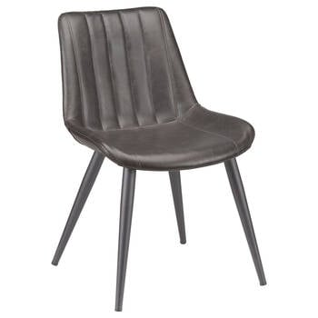 Faux Leather and Metal Dining Chair