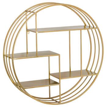 Round Metal Wire Wall Shelf