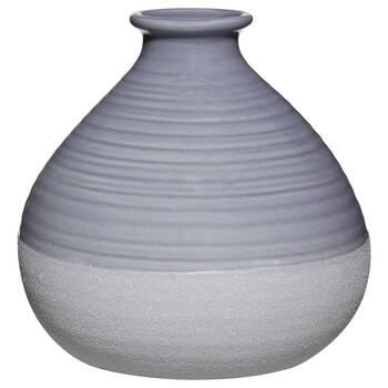 Two-Tone Blue Ceramic Bud Vase