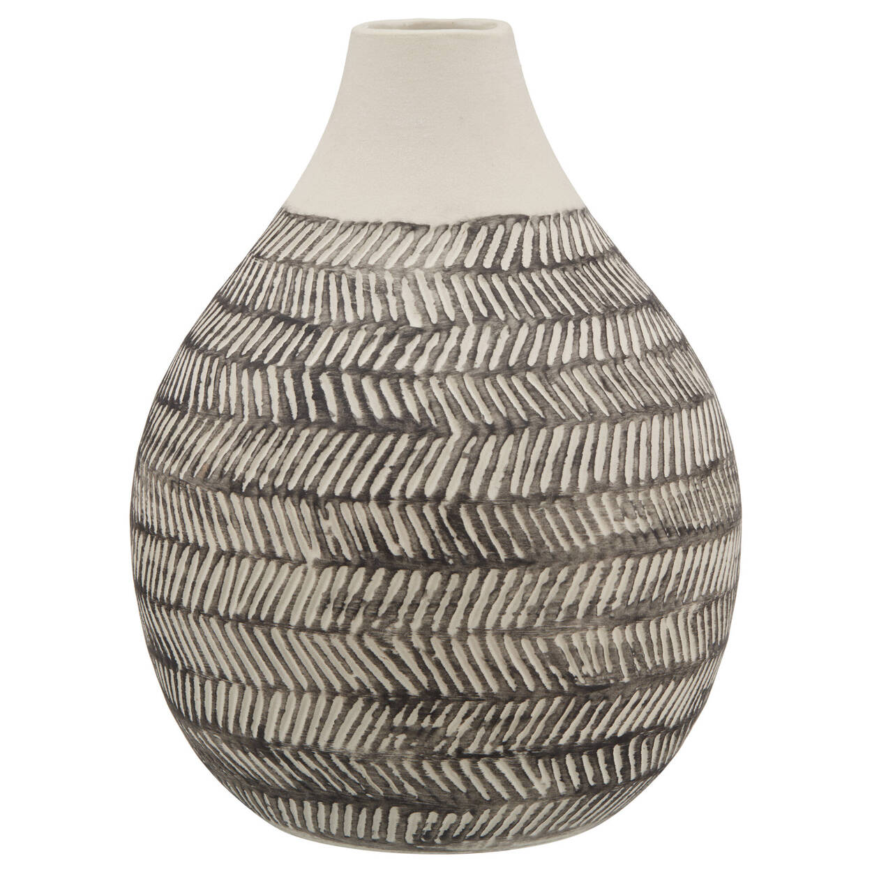 Two-Toned Textured Ceramic Table Vase