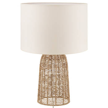 Hemp Rope and Linen Shade Table Lamp