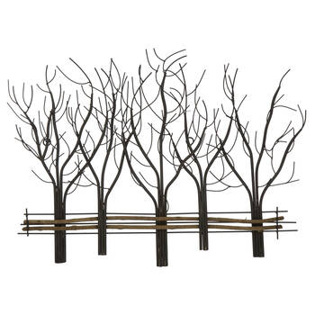 Art mural branches en métal
