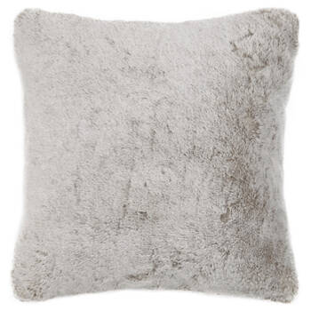 "Silver Fox Faux Fur Decorative Pillow 20"" x 20"""