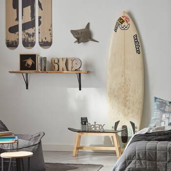 Banc skateboard en bois