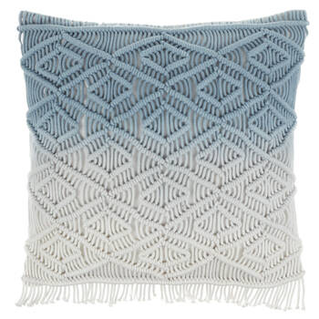 "Heca Knitted Decorative Ombré Pillow 18"" X 18"""