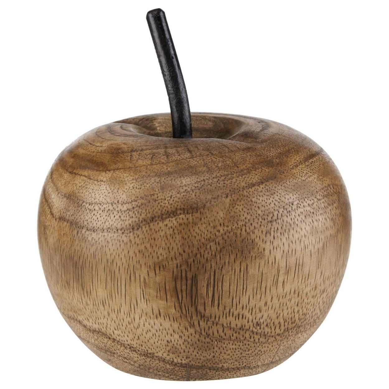Pomme décorative en bois de manguier