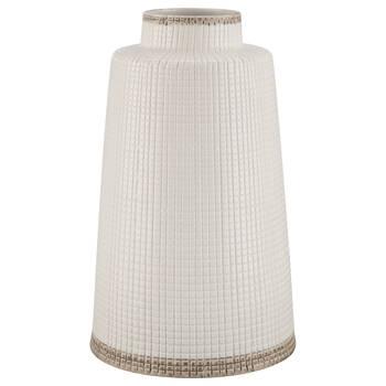 White Waffle Vase