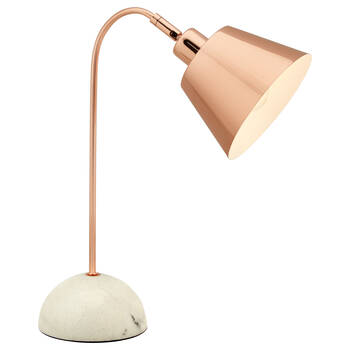 Copper and Marble Table Lamp