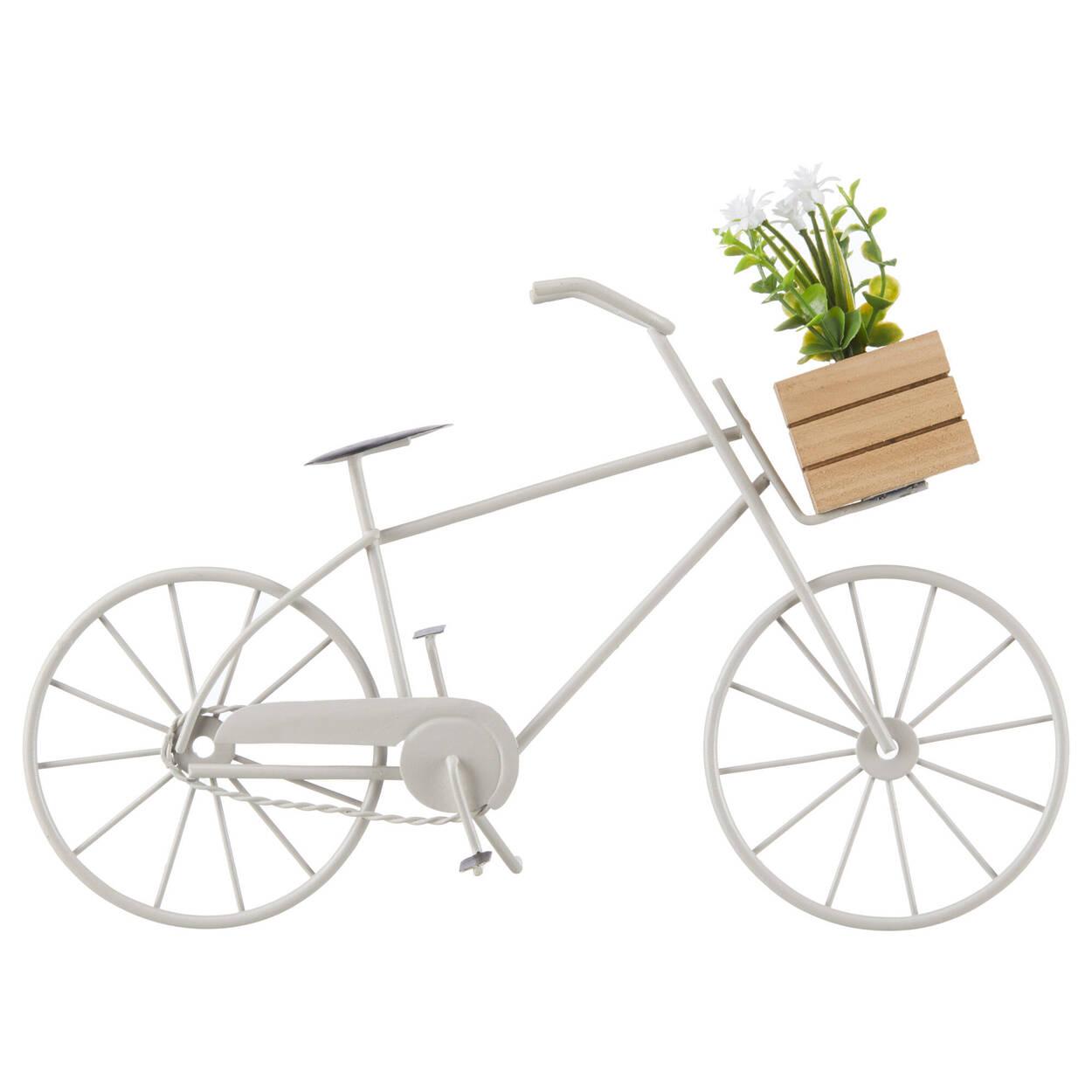 Bicyclette décorative en métal gris