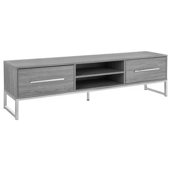 Veneer & Metal Media Console