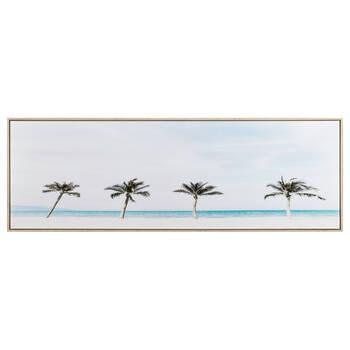 Palm Trees on Beach Printed Framed Art