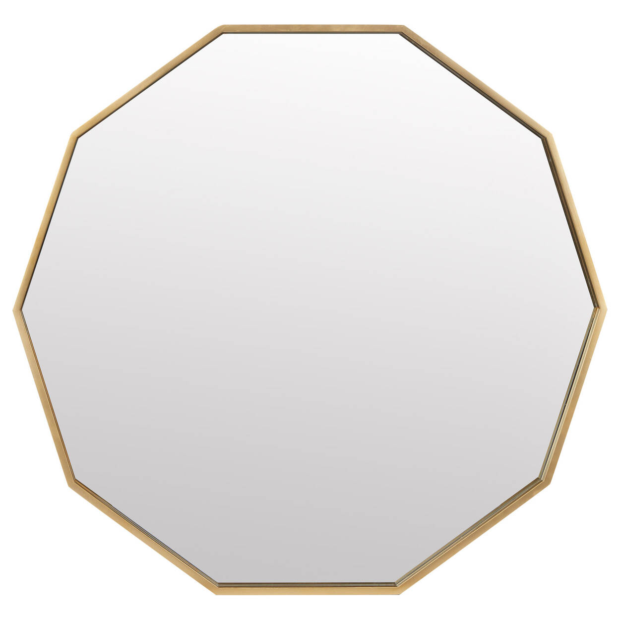 Golden Polygon Framed Mirror