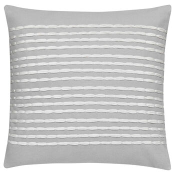 "Mousse Embroidered Striped Decorative Pillow 20"" X 20"""