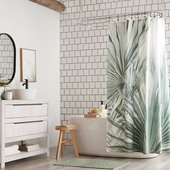 Sage Palm Shower Curtain
