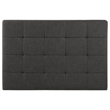 Queen Biscuit Tufted Fabric Headboard