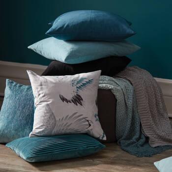 "Jules Striped Velvet Decorative Lumbar Pillow 13"" X 20"""