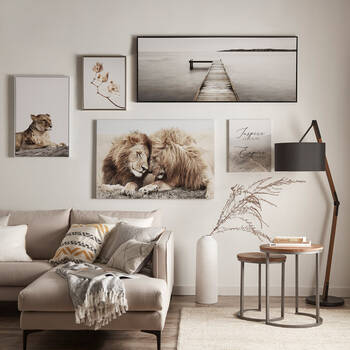 Lioness and Cub Printed Framed Art