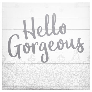 Hello Gorgeous Typography Canvas