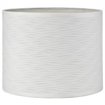 Undulated Faux Silk Lamp Shade