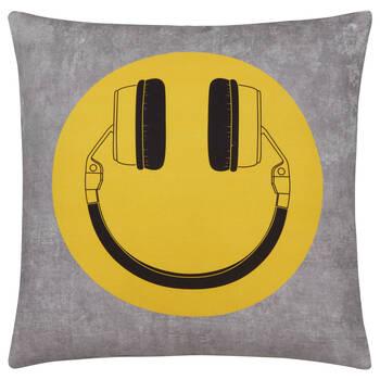 "Smiley Decorative Pillow 19"" x 19"""
