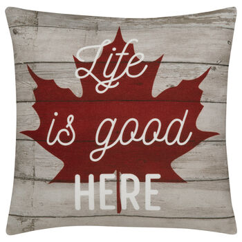 "Life Is Good Decorative Pillow 18"" X 18"""