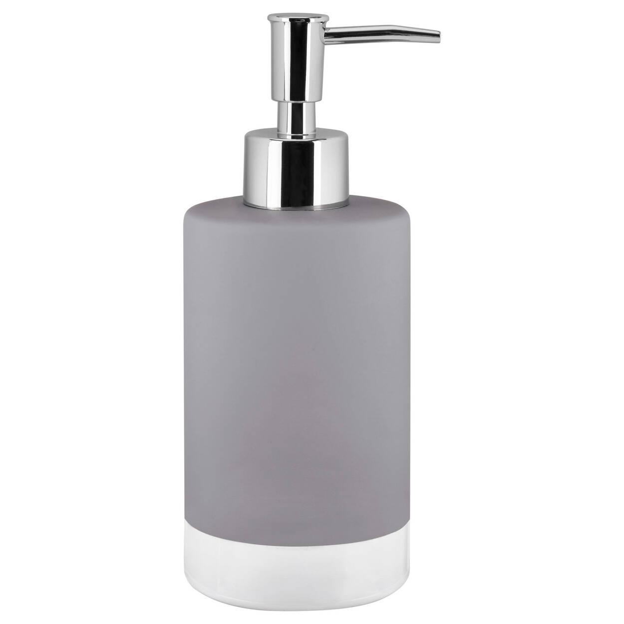 Distributeur de savon avec fini en caoutchouc for Accessoires de salle de bain bouclair