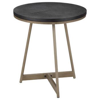 Veneer and Bronze Side Table