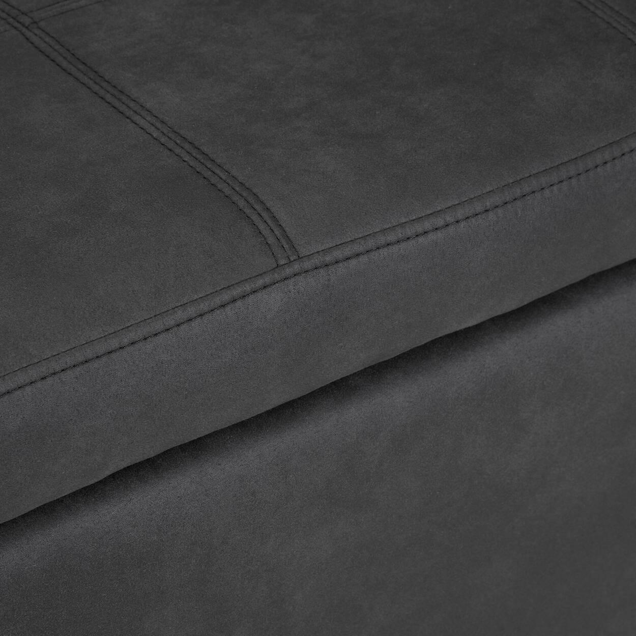Textured Faux Leather Storage Ottoman