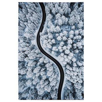 Tableau imprimé d'une route dans la forêt