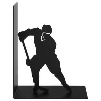 Metal Hockey Bookend