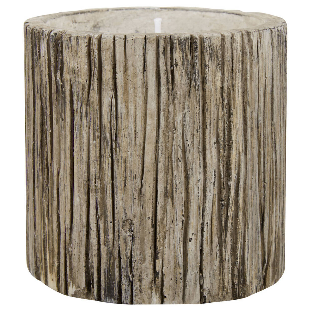 Cement Wood-Like Candle