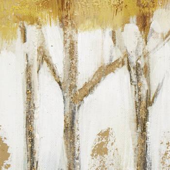 Oil Painted Yellow Landscape Canvas