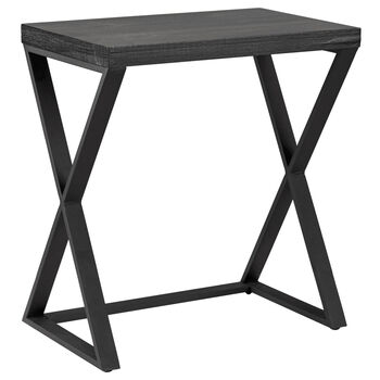 Table d'appoint en bois plaqué et métal