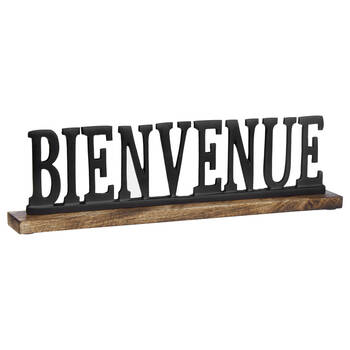Decorative Metal Word Bienvenue