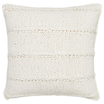 "Lamb Knitted Decorative Pillow 18"" X 18"""
