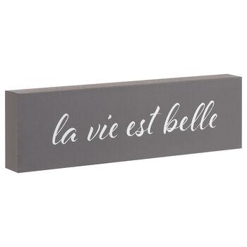 Decorative Block La Vie