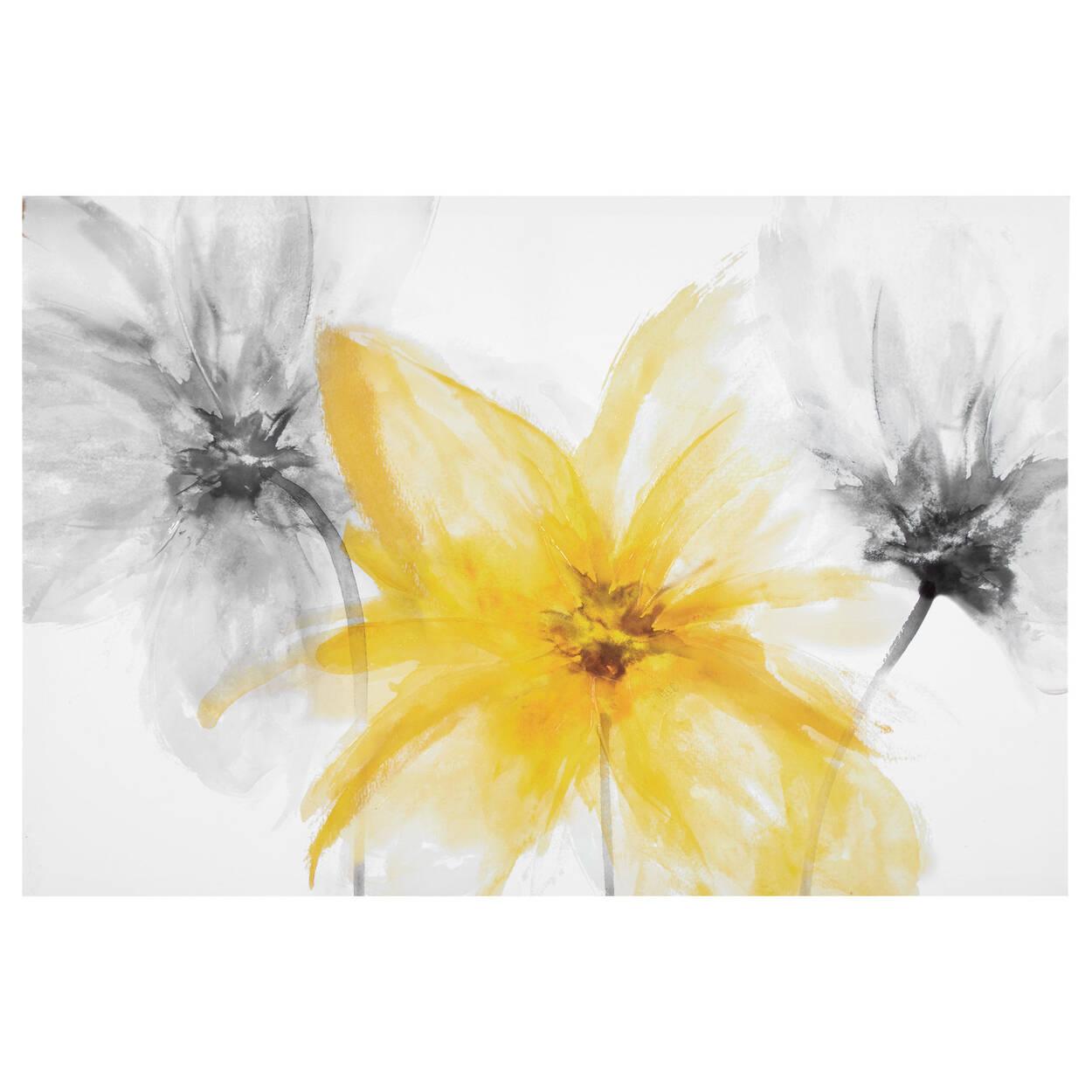 Gel Embellished Floral Printed Canvas