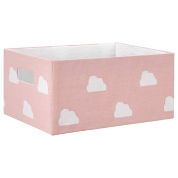 Cloud Printed Storage Basket